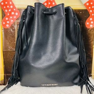 VS Fringe Faux Leather Backpack